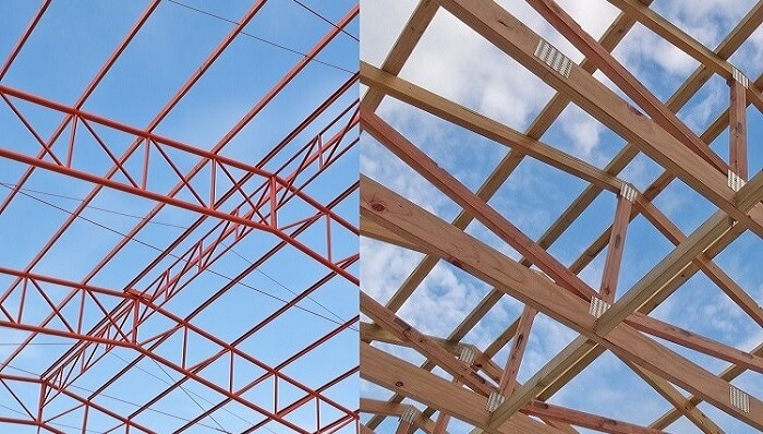 roof trusses_compare_timber vs metal