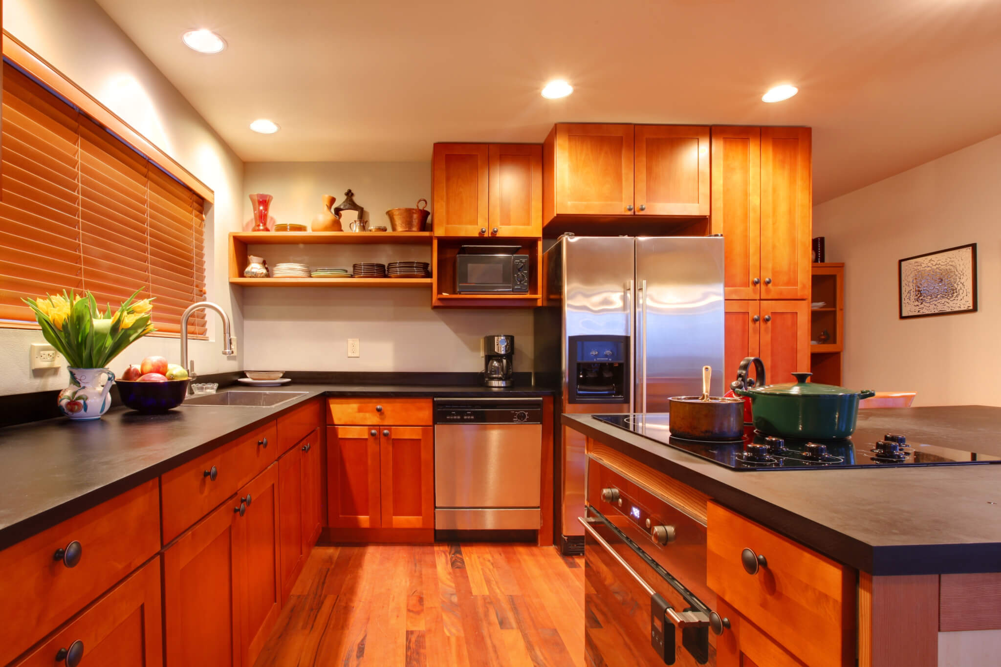 timber floored kitchen