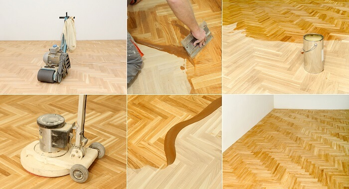 coating timber floor, reapplying the polish of timber flooring